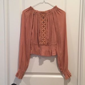 NWOT Dusty rose blouse